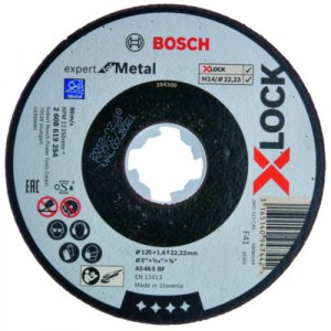 Šlifavimo diskas Bosch Expert for Metal; Ø125x1,6 mm