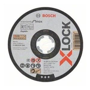 Abrazyvinis pjovimo diskas Bosch X-LOCK Standard for Inox; 125×1×22,23 mm; 1 vnt.