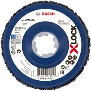 Veltinio diskas valymui Bosch X-LOCK N377 Metal; 115 mm
