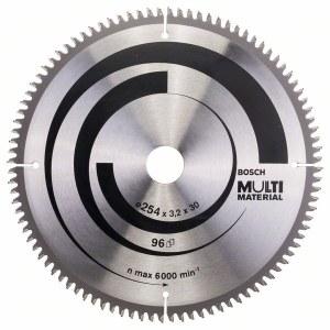 Pjovimo diskas medienai Bosch MULTI MATERIAL; 254x3,2x30,0 mm; Z96; -5°