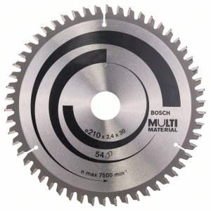 Pjovimo diskas medienai Bosch MULTI MATERIAL; 210x2,4x30,0 mm; Z54; -5°