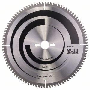 Pjovimo diskas medienai Bosch MULTI MATERIAL; 300x3,2x30,0 mm; Z96; -5°