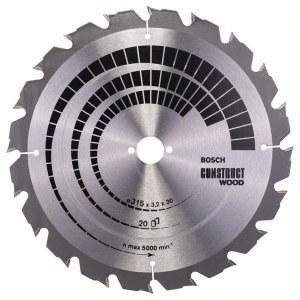 Pjovimo diskas medienai Bosch; CONSTRUCT WOOD; Ø315 mm