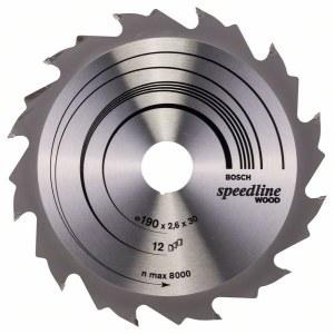 Pjovimo diskas medienai Bosch; SPEEDLINE WOOD; Ø190 mm