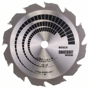 Pjovimo diskas medienai Bosch; CONSTRUCT WOOD; Ø184 mm