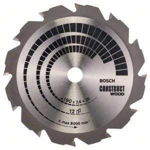 Pjovimo diskas medienai Bosch; CONSTRUCT WOOD; Ø190 mm