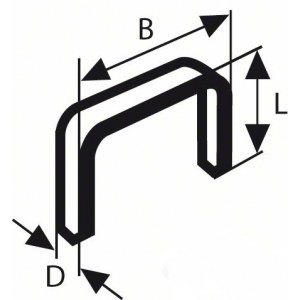 Kabės Bosch; 10,6x8 mm; 1000 vnt.; tipas 59; plieno