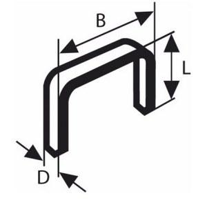 Kabės Bosch, tipas 53; 11,4x4 mm; 1000 vnt.