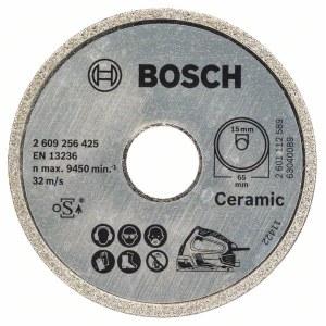 Deimantinis pjovimo diskas Bosch PKS 16 Multi Ceramics; 65 mm