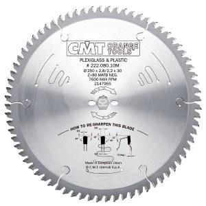 Pjovimo diskas medienai CMT 222.080.10M; d=250 mm