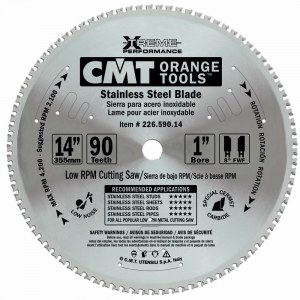 Pjovimo diskas metalui CMT 355x2.2x25.4; Z90; 10°