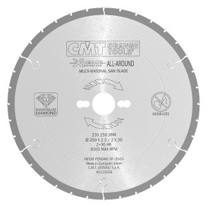 Pjovimo diskas medienai CMT 216x2.5x30; Z30; 10°