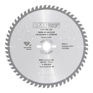 Pjovimo diskas medienai CMT; 300x3,2x30,0 mm; Z60; 10°