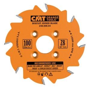 Pjovimo diskas medienai CMT 100x3.96x22; Z8; 15°