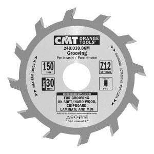 Pjovimo diskas medienai CMT 150x3x30; Z12; 15°