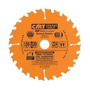 Pjovimo diskas medienai CMT 150x1.5x20; Z24; 18°