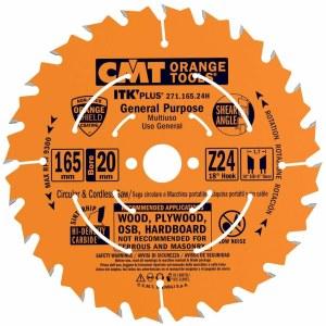 Pjovimo diskas medienai CMT 271.165.24H; d=165 mm