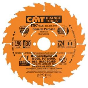 Pjovimo diskas medienai CMT 190x1.7x30; Z24; 20°