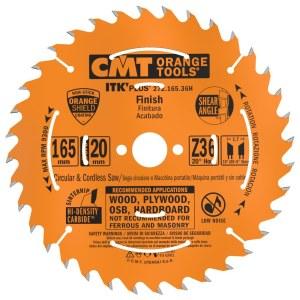 Pjovimo diskas medienai CMT 165x1,7x20; Z36; 20°