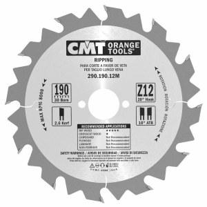 Pjovimo diskas medienai CMT 290.190.12M; d=190 mm