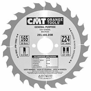 Pjovimo diskas medienai CMT 165x2,6x30; Z24; 15°