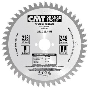 Pjovimo diskas medienai CMT 190x2.8x16; Z24; 20°