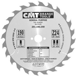 Pjovimo diskas medienai CMT 291.190.24H; d=190 mm