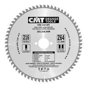 Pjovimo diskas medienai CMT; 216x2,8x30 mm; Z64