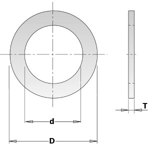Redukcinis žiedas CMT 299.215.00; 1,4x22,0x25,4 mm