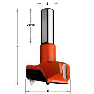 Furnitūros skylių grąžtas CMT; S=10 mm; D=45 mm
