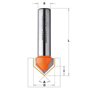 V formos griovelių freza CMT; S=6 mm; D=12,7 mm