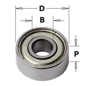 Atraminis guolis CMT 791.053.00; 80x50x16 mm