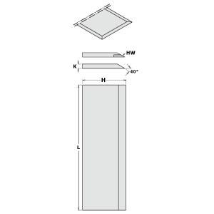 Obliavimo peiliai CMT 792.251.30; 250x30x3 mm; SP; 2 vnt.