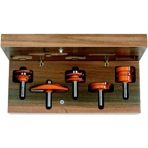 Frezų rinkinys CMT for kitchen; 12 mm; profile B; 5 dalys
