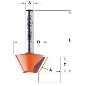 Nuožulnų freza CMT; S=8 mm; D=25 mm