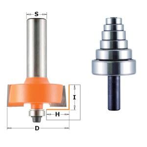 Kampų išpjovimo freza CMT; 8 mm; 3,2-12,7 mm; 12,7 mm; 9 dalys