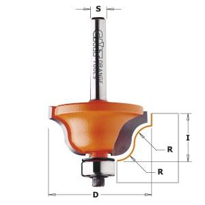 Kampų formavimo freza CMT; S=12 mm; D=28,7 mm; su guoliu