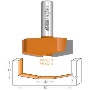 Lovelių freza CMT; S=12 mm; D=50 mm