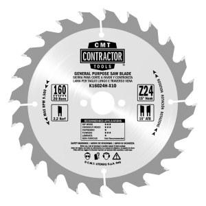 Pjovimo diskas medienai CMT 165x1,7x20; Z24; 15°