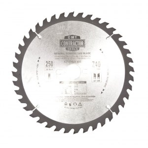 Pjovimo diskas medienai CMT K25040M-X05; d=250 mm; 1 vnt.