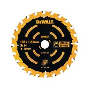Pjovimo diskas medienai DeWalt DT10624-QZ; 165 mm