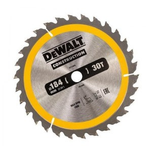 Pjovimo diskas medienaiDeWalt DT1940-QZ; 184 mm; 1 vnt.