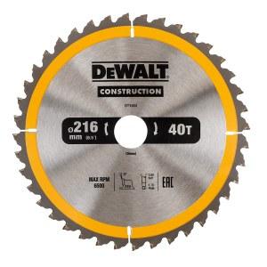 Pjovimo diskas medienaiDeWalt DT1953-QZ; 216 mm; 1 vnt.