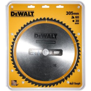 Pjovimo diskas medienai DeWalt DT1960; 305x30 mm; 60T