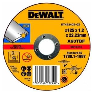 Abrazyvinis pjovimo diskas DeWalt DT42340Z-QZ; 125x1,2 mm