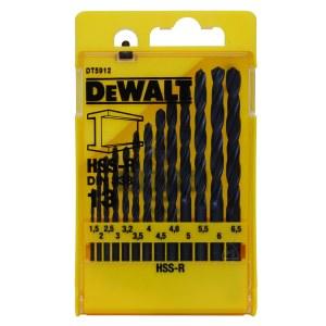Grąžtų komplektas metalui DeWalt HSS-R; Ø1,5-6,5 mm; 13 vnt.