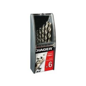 Grąžtų komplektas metalui Diager 706C; 2/3/4/5/6/8 mm; 6 vnt.