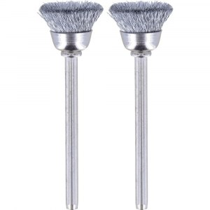 Plieninės vielos šepetys Dremel 442, 3,2 mm, 13,0 mm, 2 vnt.