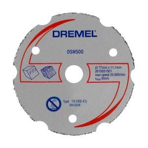Daugiafunkcinis karbidinis plokštuminio pjovimo diskas Dremel 2615S500JB; 77 mm