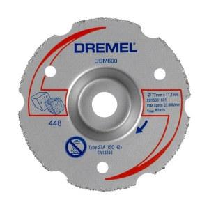 Daugiafunkcinis karbidinis plokštuminio pjovimo diskas Dremel 2615S600JB; 77 mm
